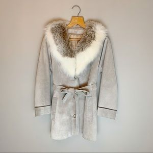 Gorgeous 70s jacket, suede and real fur
